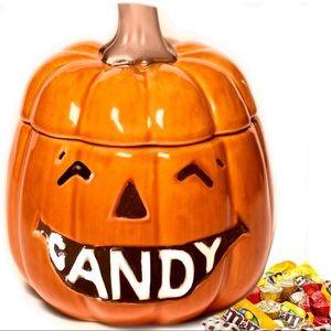 Halloween Candy Bowl Jack O Lantern Pumpkin Orange